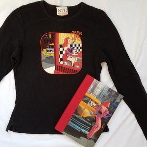 Vintage Jessic Rabbit longsleeve shirt and journal